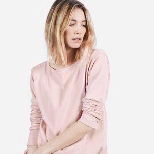 Everlane Blush Pink 100% Cotton Boat Neck Tee